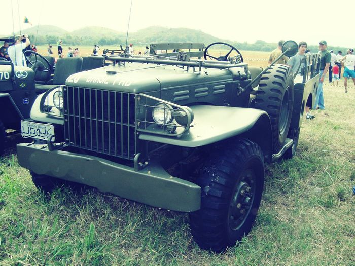 Transportation Mode Of Transport Grass People Adult Outdoors Day Adults Only Only Men Military Car