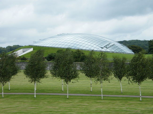 Cloud - Sky Day Greenhouse Landscape Nature No People Outdoors Sky Built Structure Architecture Garden Hothouse Garden Photography The National Botanic Garden Of Wales Beauty In Nature Underground Structure Modern Architecture