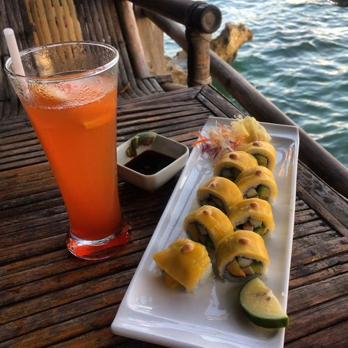 Taking A Break Enjoying Myself Quality Time Boracay Boracay Island  BoracaySunset Sushi Lover Sushi!