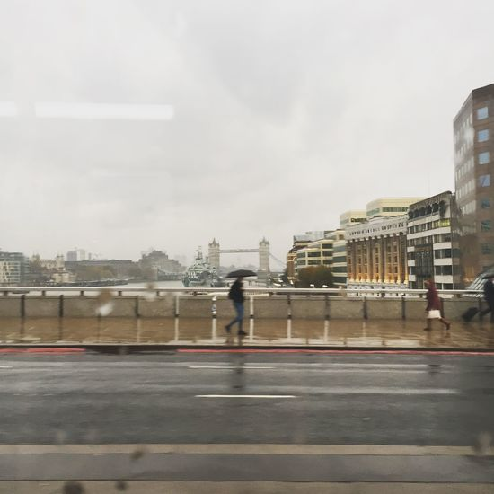 Quick snap from the bus! Rain Misery View Wednesday Grey London England Europe