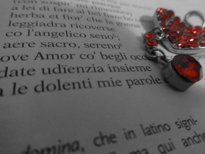 My Student Life Petrarca Chiare Fresche Dolci Acque Poesia Heart Cuore Red