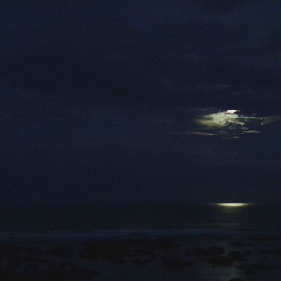the dark side of the day Quiet Moments Nature Photography Photography Patagonia Sea And Sky Sea Moon Moonlight Shadow
