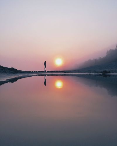 ☷👤 ☉ ☷ | fading away Nature Photography Nature_collection Nature VSCO EyeEm Best Shots EyeEmNewHere EyeEm Nature Lover First Eyeem Photo Silhouette Sea Sea And Sky Reflection Sunset Sunrise Fog The Week on EyeEm Minimalism Nature Photography