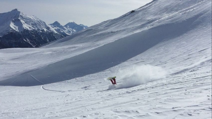 Snow Winter Cold Temperature Mountain Adventure Snowcapped Mountain Leisure Activity One Person Lifestyles Real People Mountain Range Day Scenics Beauty In Nature Nature Outdoors Non-urban Scene Landscape Sport Backcountry White Color Snowboarding Freeride Jumping Upside Down