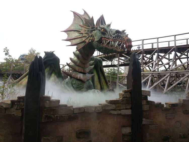 Amusment Park Arabian Botanical Garden Dragon Efteling ,the Netherlands Rollercoaster Submarine Turkish Well