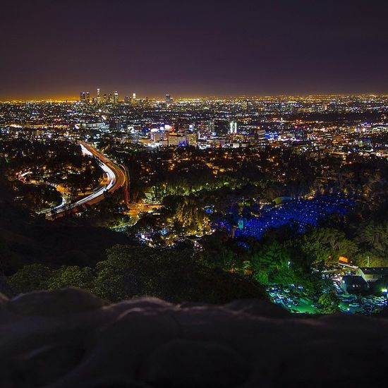 HO\\YWOOD BOWL featured on @Conquer_LA, check em out! Cities At Night TurnUpTheBrightness Los Angeles Life Weownthenight_la Losangeles_la