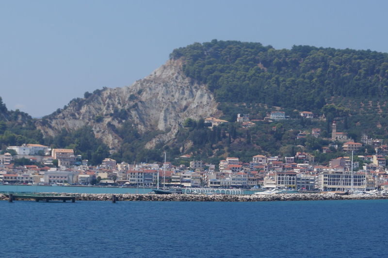 View Of Town By Sea