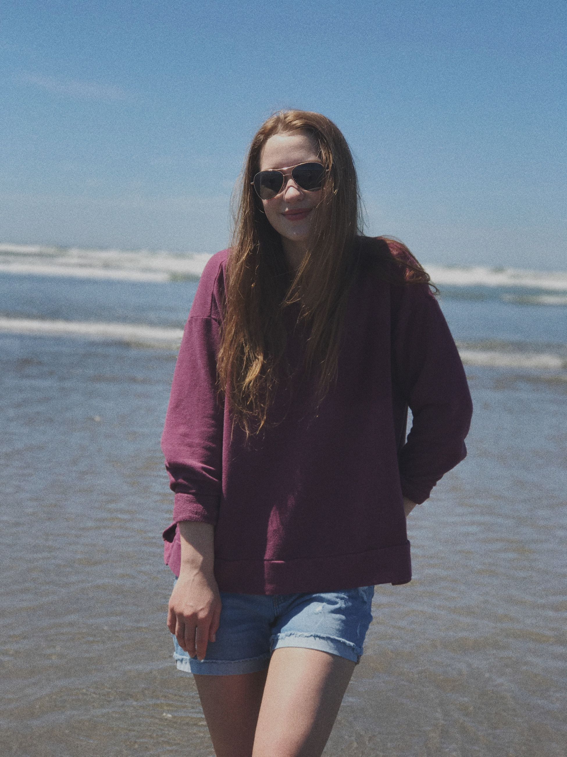 sunglasses, smiling, sea, happiness, beach, young adult, one person, water, nature, outdoors, young women, sky, day, people