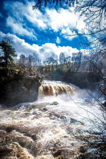 Bonnington Linn in full flow Falls Of Clyde New Lanark Waterfall Nature Water Eye Em Scotland