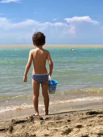 Nature Nature_collection Costa Sud - Sicilia Sicily Sicilia Gianni Lo Turco Sea Beach Water Land Sky Horizon Rear View Horizon Over Water Real People Cloud - Sky Beauty In Nature Leisure Activity Childhood Full Length One Person Child Scenics - Nature Nature Lifestyles Outdoors