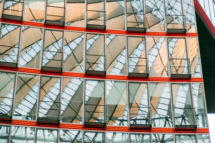 Sony Center Sony Center Berlin Architecture Building Building Exterior Built Structure Ceiling City Day Design Full Frame Glass Glass - Material Low Angle View Metal Modern No People Office Building Exterior Outdoors Pattern Potsdamer Platz Reflection Transparent Window