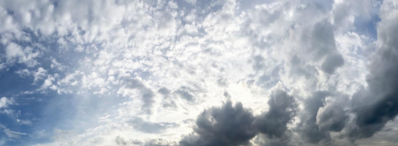 Cloud - Sky Sky Low Angle View Beauty In Nature Scenics - Nature Backgrounds Nature Cloudscape Tranquility No People Day Sunlight Outdoors Blue Dramatic Sky Tranquil Scene Environment Idyllic Panoramic Meteorology Abstract Backgrounds Panoramic Photography Panorama