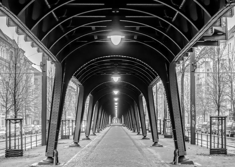 Arch Architecture B&w Berlin Photography Berliner Ansichten Bicycle Black And White Built Structure Day Indoors  Prenzlauer Berg The Way Forward Urban Urban Exploration Viaduct Viadukt Capture Berlin Welcome To Black