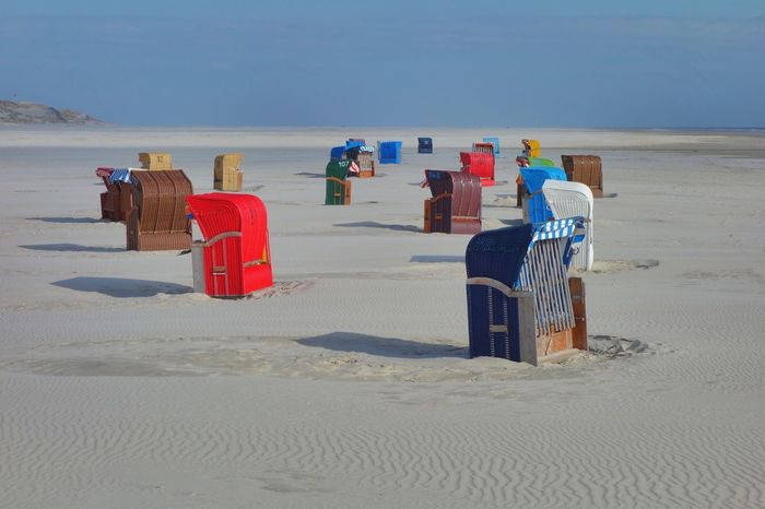 Amrum Strand Land Beach Sand Sea Water Nature Day Scenics - Nature Hooded Beach Chair Sky Real People Horizon Over Water Men Incidental People Beauty In Nature Horizon Wicker Outdoors Holiday