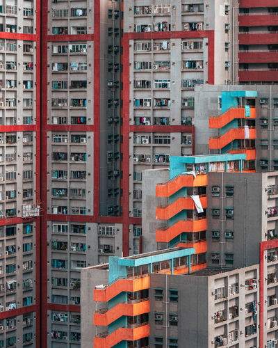 Shoot from mid-levels to hong kong public housing looks like jigsaw puzzle