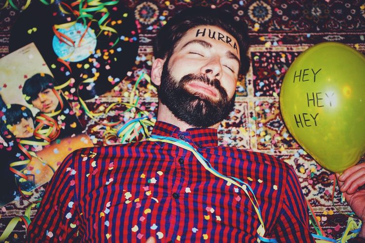 35mm Art Balloon Casual Clothing Close-up Color Portrait Colorful Colors Colour Of Life Cultures Dreaming Face Faces Of EyeEm Getting Inspired Leisure Activity Lifestyles Multi Colored Portrait Portrait Photography TakeoverContrast