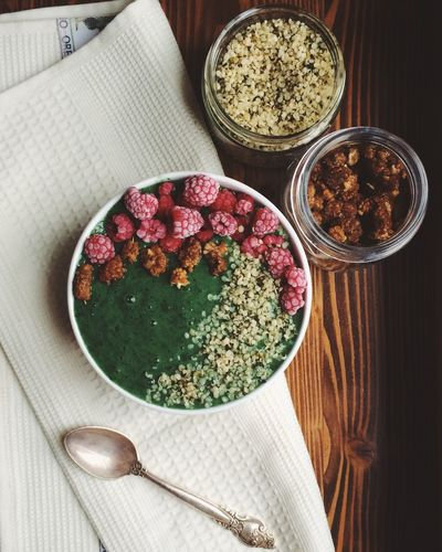 Bowl Food Food And Drink Foodphotography Green Color High Angle View Indoors  IPhoneography No People Plant Smoothie Smoothie Bowl Vegan