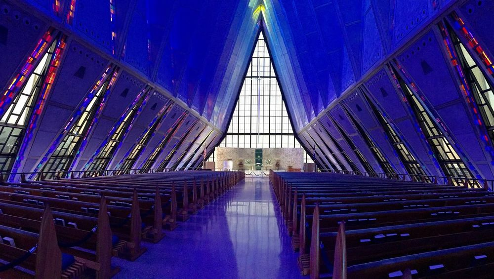 Chapel Church Pulpit Air Force Academy Colorado Stained Glass IPhoneography Pastel Power