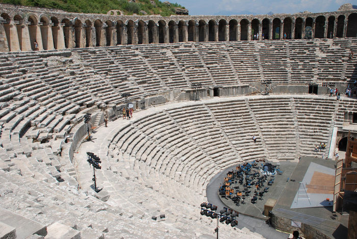 Amphitheater Ancient Civilization Ancient History Antalya Architecture Architecture Aspendos  Cavea Day History Old Ruin Outdoors Roman Theatre Steps The Past Theatre Tourism Travel Destinations Turkey