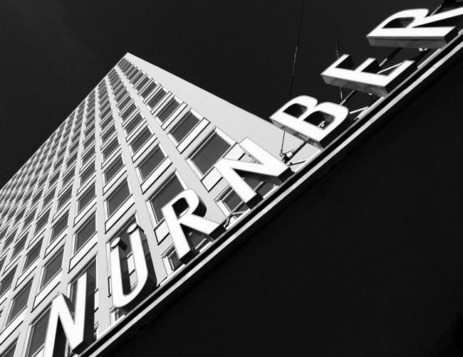 Building Exterior Architecture Built Structure Low Angle View Building Text Sign Western Script Façade Blackandwhite Contrast