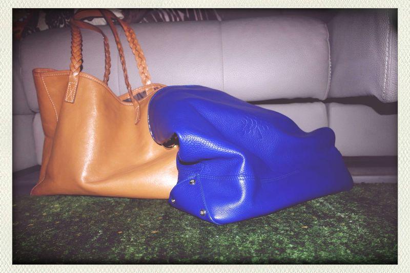 twinsies ♡ Mulberry Handbag  Blue Brown