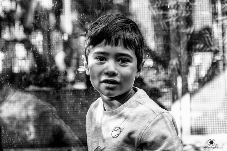 Portrait Looking At Camera Childhood Child One Person Front View Headshot People Close-up Outdoors Day Desaturated