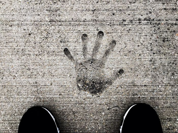 Human Body Part Human Hand Textured  Handprint One Person Day Drawing - Art Product Close-up Outdoors People