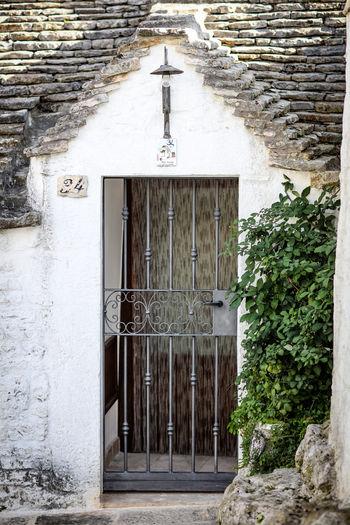 Doorway Alberobello Alberobello - Puglia Alberobello City Travel Destinations Travel Trullo Trulli Houses Trulli Italy Door Entrance Gate Historical Building Puglia No People Outdoors