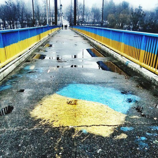 On the bridge over the Teteriv River in Zhytomyr, Ukraine. Zhytomyr Ukraine Житомир Україна