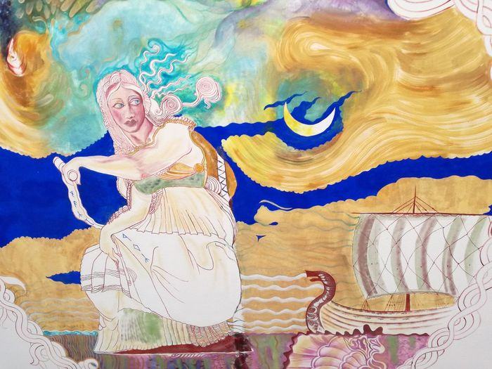 Abstract Painted Image Anfi Del Mar Painting Art Woman Portrait Vacations Gran Canaria Sea Sea Life Serenity Draw