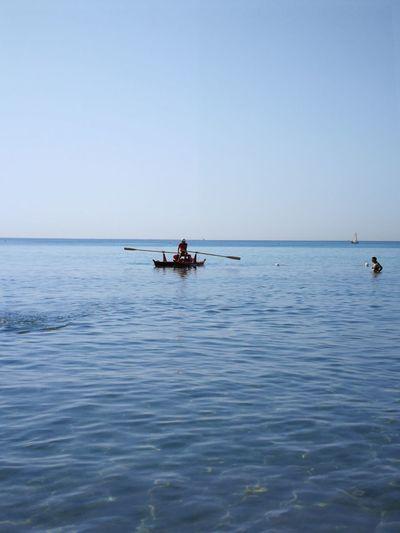 buongiorno...Good day...🙋😊😊 Cagliari, Sardinia Sardinia Sardegna Italy  Sardinia Sardegna Nautical Vessel Water Clear Sky Oar Sea Men Sitting Full Length Blue Adventure Seascape Coast Horizon Over Water