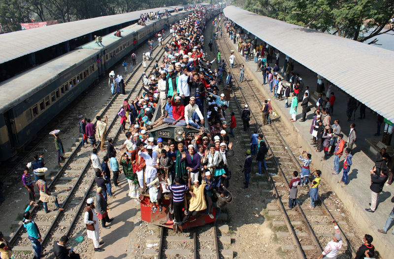 large group of people returned home by train after Iztema. Adult Bangladesh Crowd Day Documentary High Angle View Iztema Large Group Of People Lifestyles Men Mixed Age Range Outdoors People Rush Hour Station Train