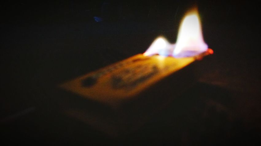 Box Of Matches On Fire Up In Smoke