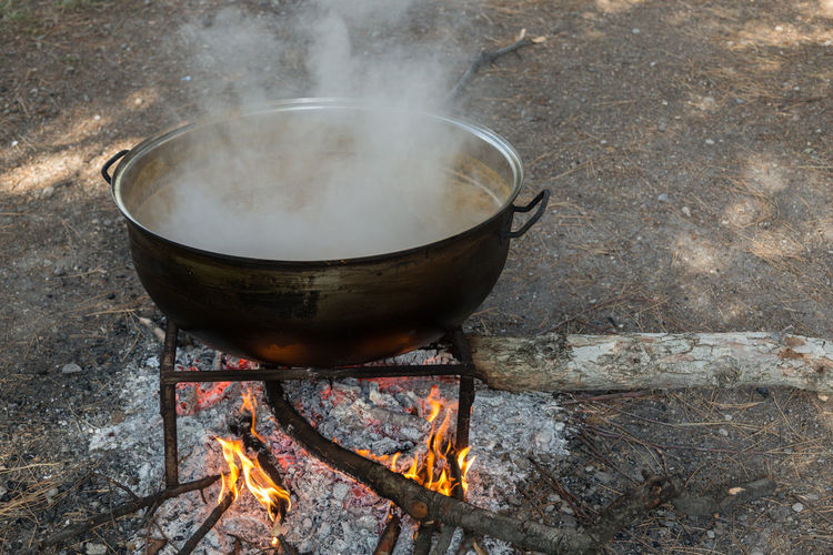 making apple molasses Apples Fire Flames Kazan Kettle Making Molasses Molasses Outdoors Pears Pekmez Pekmez Yapimi Pot Steam Turkey
