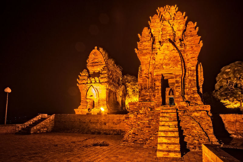 Poklong Garai Tower - Phan Rang - Ninh Thuan - Vietnam Phan Rang - Ninh Thuan Phan Rang Poklong Garai Tower Tháp Chàm Vietnam Ancient Ancient Civilization Architecture Building Exterior Built Structure History Illuminated Nature Night No People Old Ruin Outdoors Sky Travel Destinations