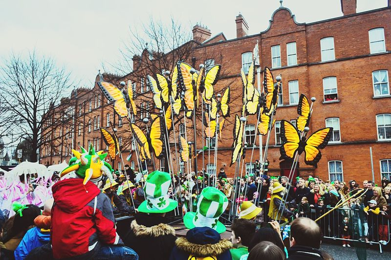 Large Group Of People Building Exterior Built Structure Architecture Crowd Real People Men City Togetherness Day Stpatricksday Irishmen Leprechauns Outdoors Tree People