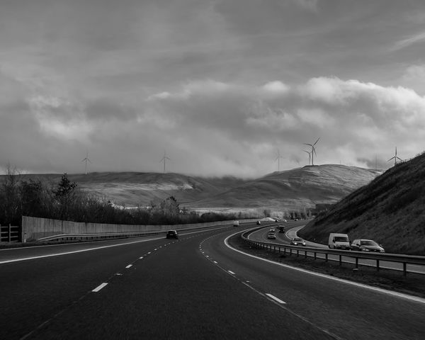 On the way back to London from visiting family in Scotland. I always love the scenic drives! Cloud Journey Landscape Outdoors Road Scotland Showcase: January Transportation