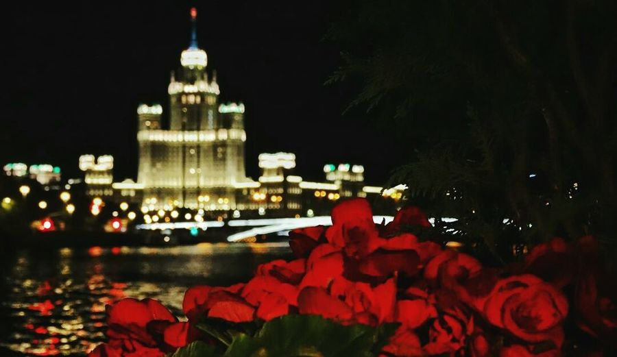 Night Illuminated Architecture Building Exterior Travel Destinations Water City Reflection No People Outdoors Red Government Nature Cityscape Tree Sky Politics And Government History City Architecture Built Structure Kremlin In Moscow Moscowstreets Moscow Moscow City