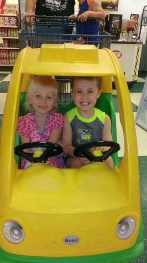 Supermarket Portrait Child Smiling Childhood Females Togetherness Cheerful Boys