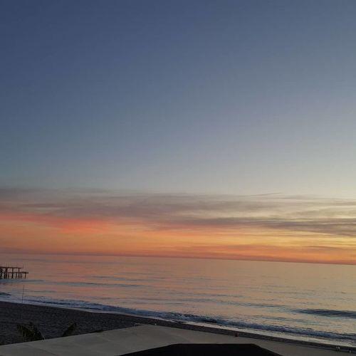 Beach Sunset Horizon Over Water Water Beauty In Nature Scenics