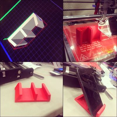 3D Printing Howtodo IPhone stand