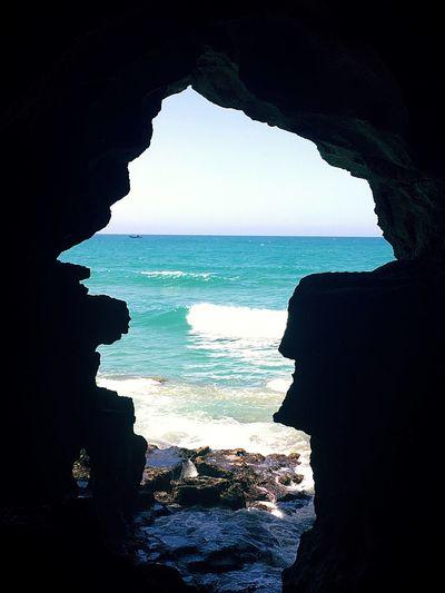 Cave Sea Seascape Hercules Cave Grotte Morocco Maroc Ocean Ocean View Atlantic Ocean Horizon Over Water Beauty In Nature Rock Formation Tangier