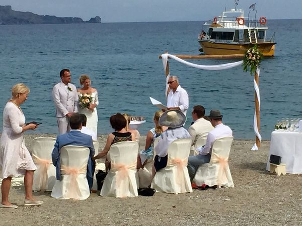 Wedding On The Beach Wedding Bride Wedding Dress Bridegroom Large Group Of People Life Events Celebration Wedding Guest Women Wedding Ceremony Cultures Tradition Men Sea White Color Ceremony Well-dressed Togetherness Wife Full Length say yes