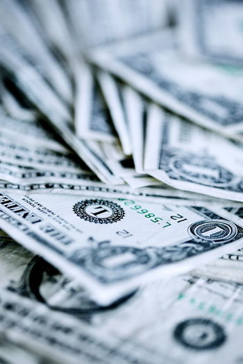 Backgrounds Business Close-up Communication Currency Dollar Economy Finance Full Frame Indoors  Large Group Of Objects Making Money Money No People Number Paper Currency Selective Focus Still Life Text Wealth