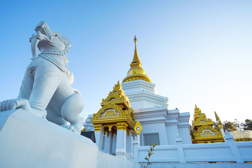 Beautiful pagoda in Wat Phra Thad Santidham temple in Chiang Rai, Thailand. Beautiful Chiang Rai Chiang Rai, Thailand Doi Mae Salong Pagoda Thai Thailand Travel Trip Wat Phra Thad Santidham Culture Destination Temple Travel Destinations