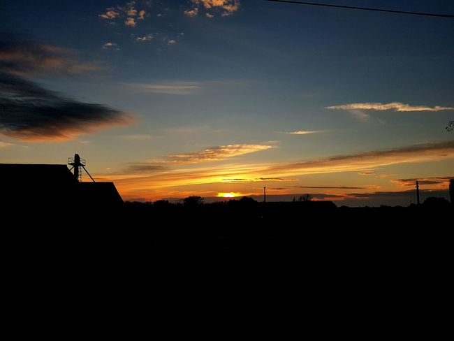 Sunset Sky Agriculture Outdoors Landscape No People Nature