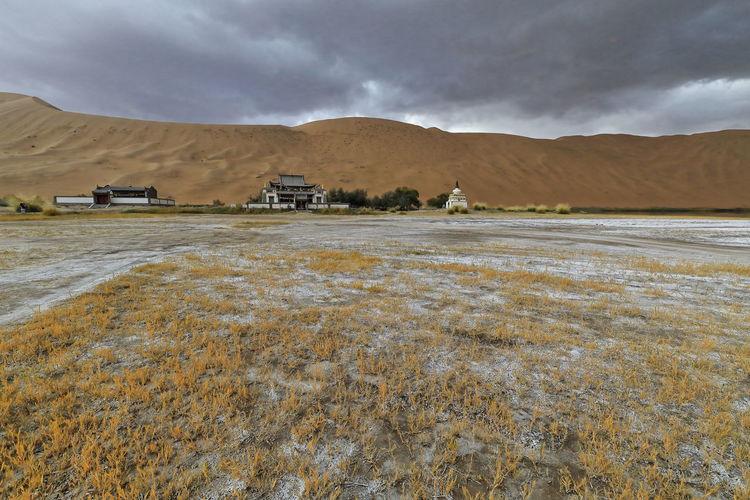 1106 sumu jaran lakebed among the badain jaran desert sand dunes. inner mongolia-china.