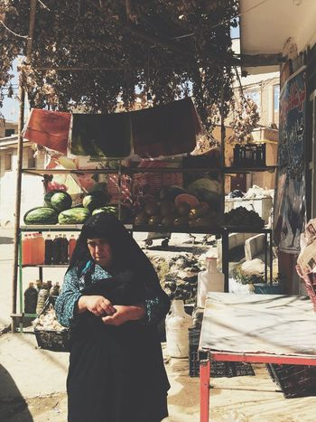 Village Life Village Old Woman Woman Real People One Person Lifestyles Leisure Activity Standing Sunlight Communication