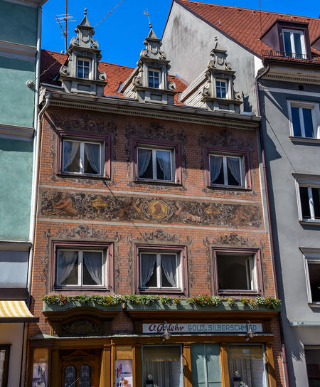 Architecture Balcony Building Building Exterior Built Structure Day Eye4photography  EyeEm EyeEm Best Shots House Low Angle View Old Buildings Old House Old Town Orange Outdoors Residential Building Residential Structure Urban Urban Geometry Urban Spring Fever Urbanphotography Window Windows The Street Photographer - 2017 EyeEm Awards