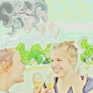 Not So Sure Thoughts?  2 Girls Eating Icecream Happy People Soft Every Picture Tells A Story Daughter Hot DayPhoto Art Best Edits  Eye For Photography Summertime Soft Pastel  Hot Days Of Summer Beautifulgirl